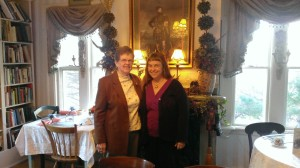 Me and Mom, out for a fancy lunch together.