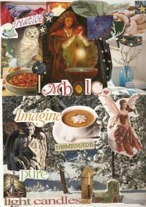 Imbolc 2013 art journal page